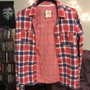 Hollister Plaid Button-Up Shirt